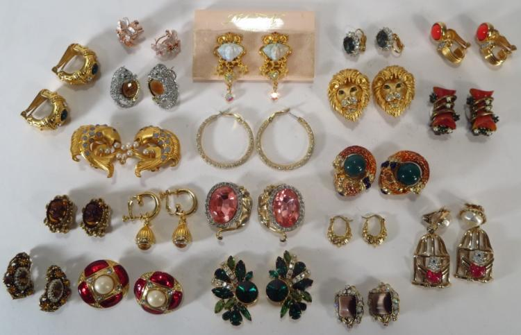 20 Pairs of Costume Clip Earrings