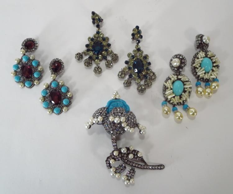 VBRA Chandelier Earrings & Brooch