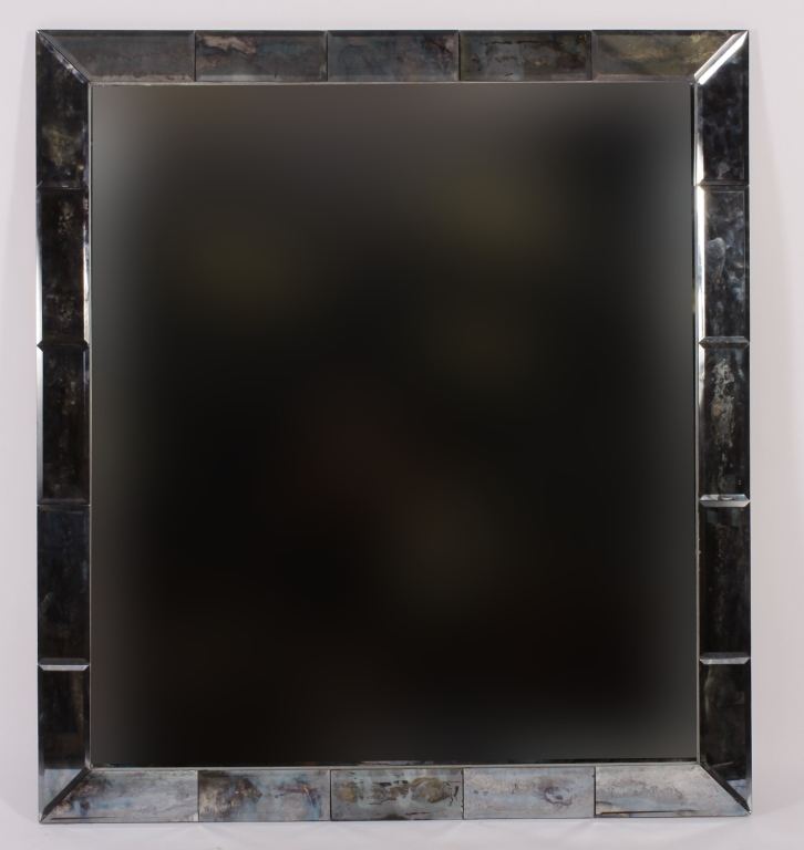 Large Modern Mirror with Beveled Edge Border