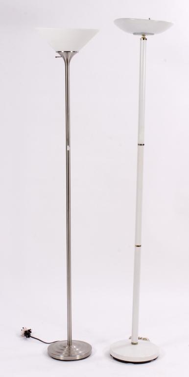 2 Midcentury Torchere Floor Lamps