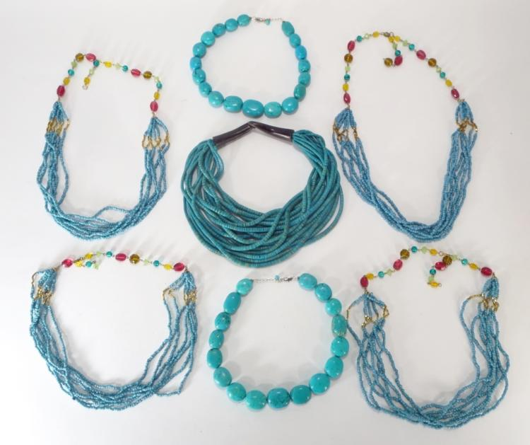 Turquoise Beaded Necklaces
