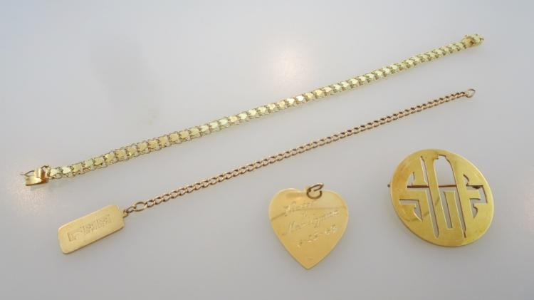 Lot of 14k Gold Jewelry Items