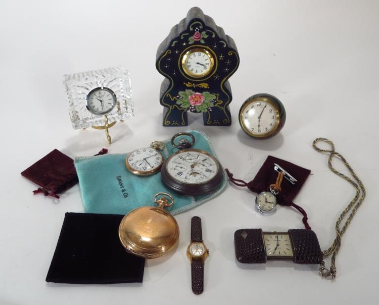 Lot of Watches/Clocks,19th-20th C., Fr./Am.
