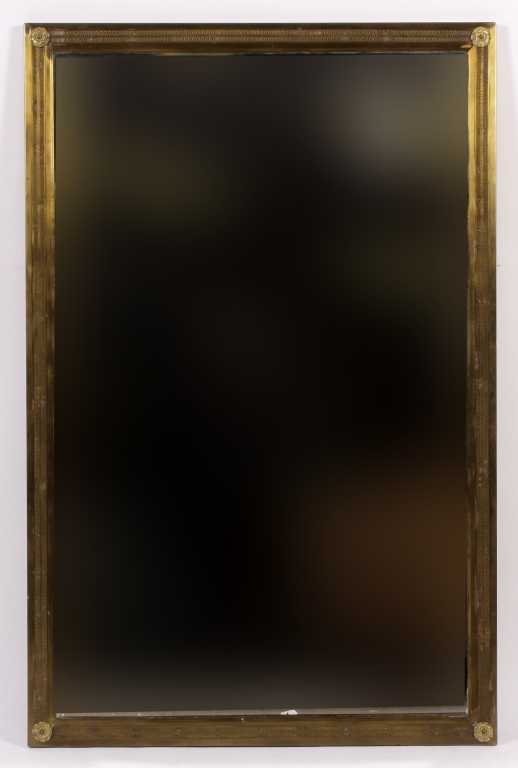 Neo-Classical Brass Mirror, c. 1940's