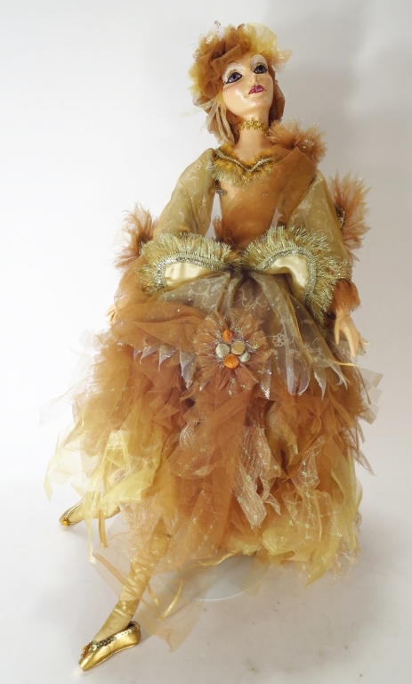 Katherine's Collection Oriana Gold Fairy Doll