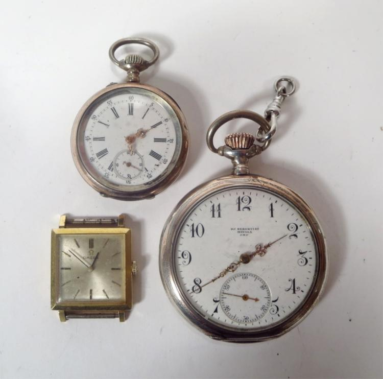 3 Vintage Watches: An 18k and Two .800 Silver