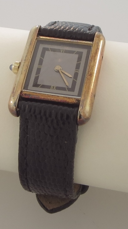 Cartier Vermeil Tank Wristwatch