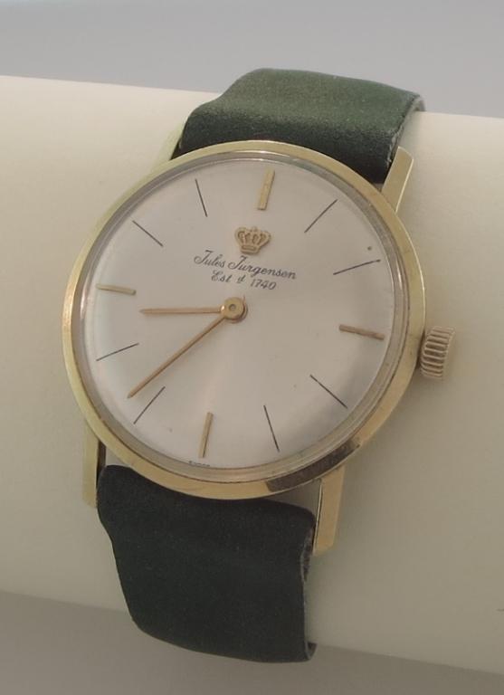 14k Gold Jules Jurgensen Wristwatch