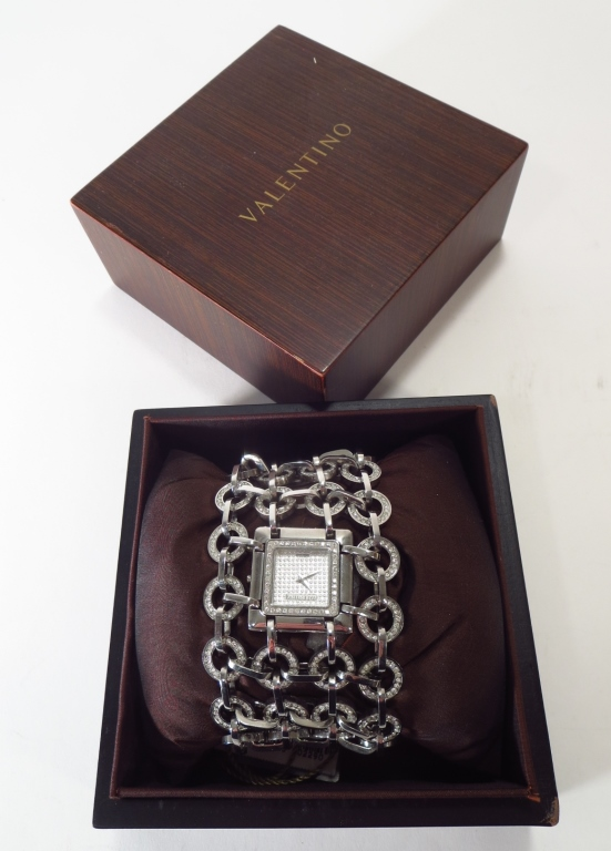 Valentino Pave Crystal Watch