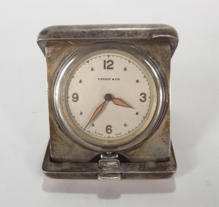Tiffany & Co. Travel Clock in Sterling Case