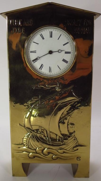 Margaret Gilmour, Scottish, 1860-1942, Brass Clock