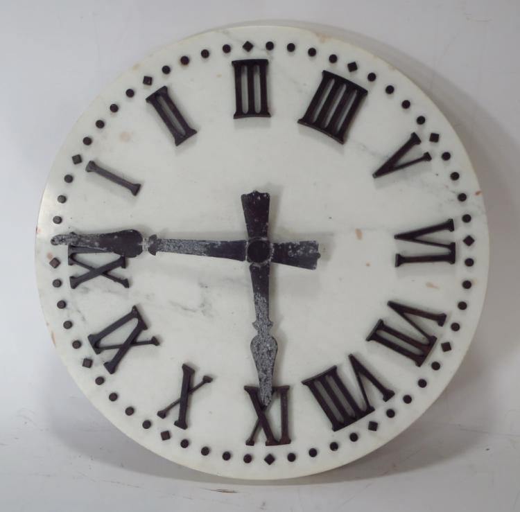 Marble and Bronze Clock Face, c. 1950's