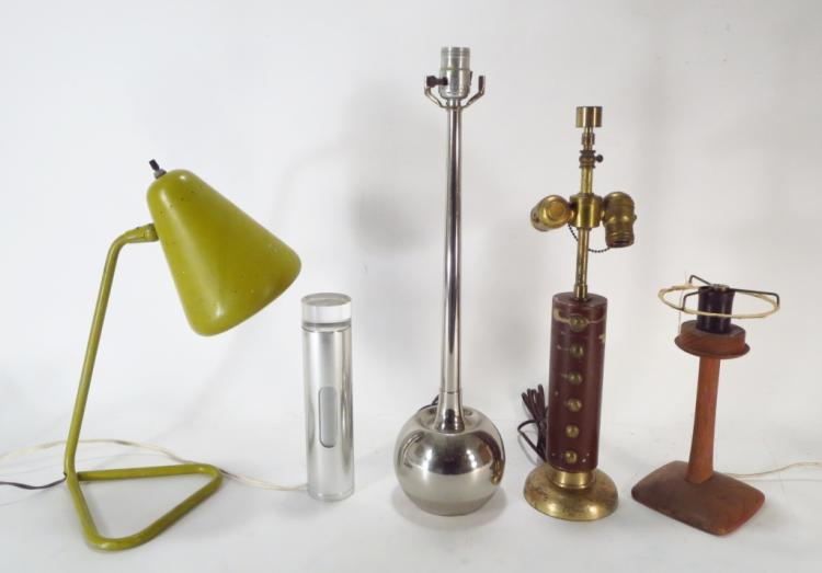 Lot of 5 Mid-Century Table Lamps