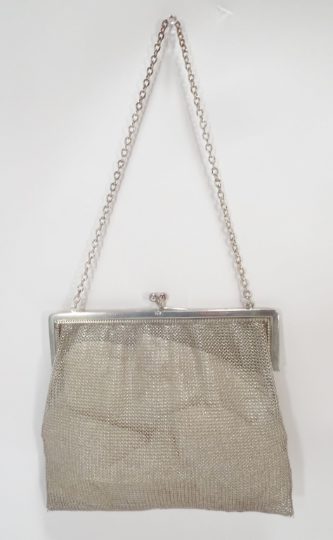 English Sterling Silver Mesh Purse,London 1915
