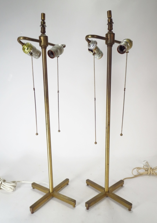 Pair of Midcentuy Brass Table Lamps