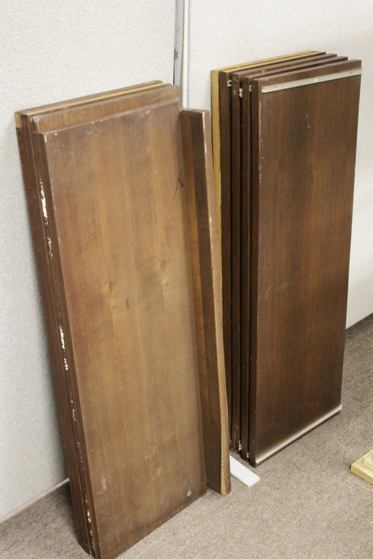 mid century modern free standing shelving unit. Black Bedroom Furniture Sets. Home Design Ideas