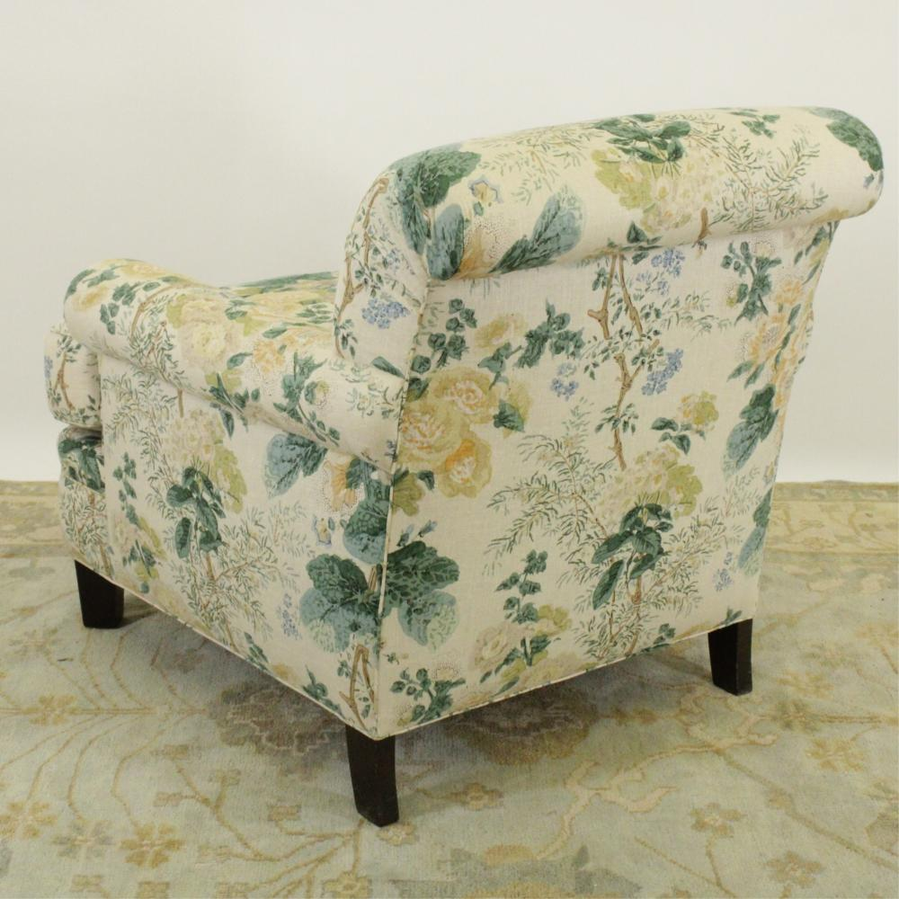 CUSTOM CONTEMPORARY UPHOLSTERED CLUB CHAIR