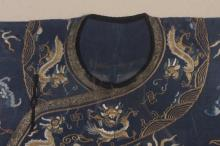 Chinese Imperial Silk Embroidered Robe, 19th C.