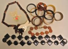 Lot of Vintage Bakelite Type Jewelry
