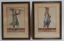 "De Gheyn 2 Engravings ""The Exercise of Arms"" 1608"
