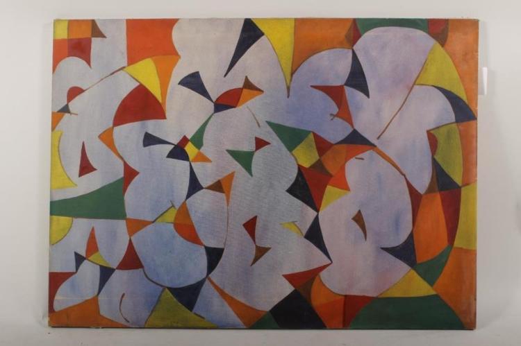 Arnold Weber, Lavender Abstract o/c