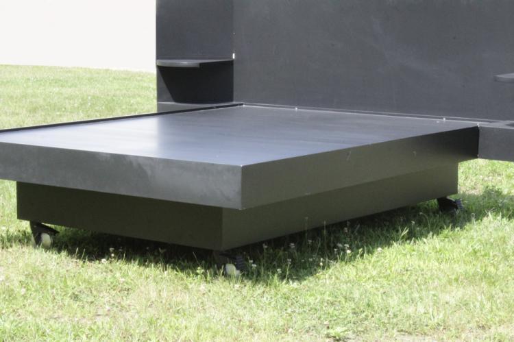 architect designed queen platform bed casters. Black Bedroom Furniture Sets. Home Design Ideas