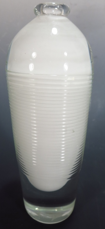 Benjamin Moore, Glass Vase, Signed.