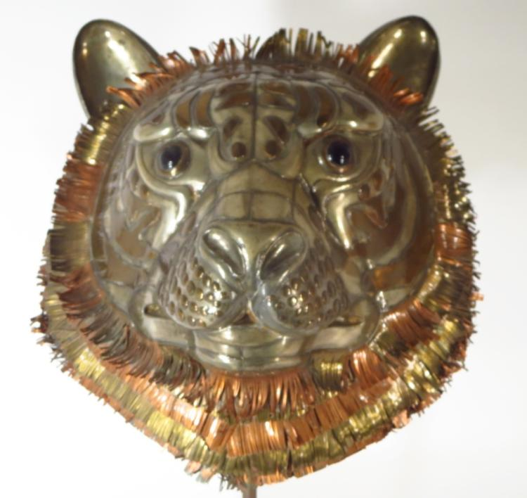 Sergio Bustamente Lion's Head in Brass/Copper