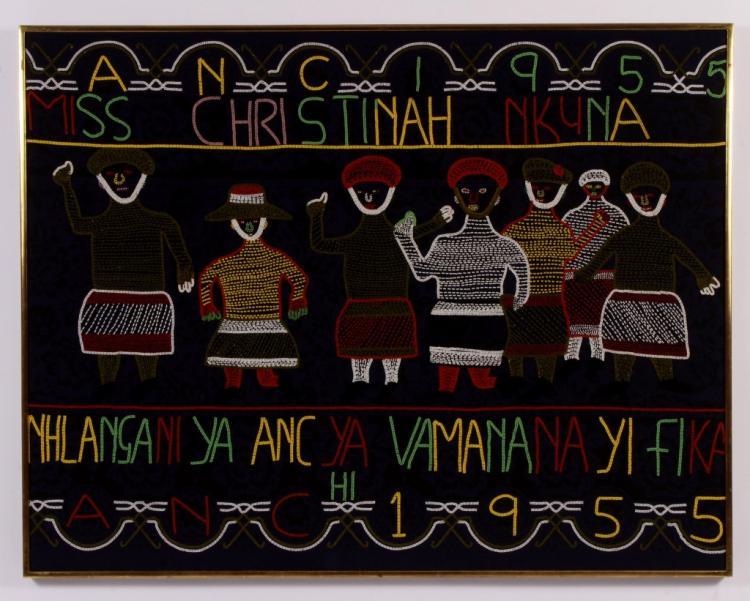 Lg. South African Bead Art, African Nat'l Congress