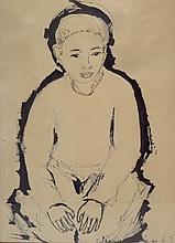 Feliciano Bejar Ruiz  Ink Drawing of Estaban 1963