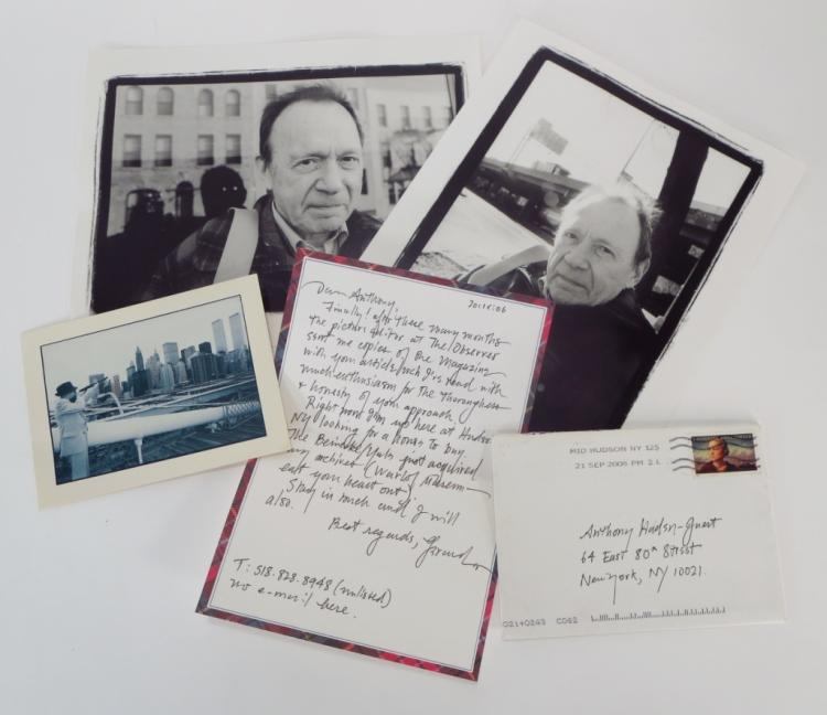 Gerard Malanga Photographs & Copy of Letter to Haden-Guest