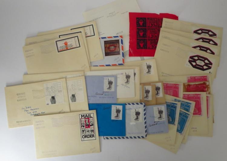 30 pcs Ephemera related to STAMP OUT ART Project