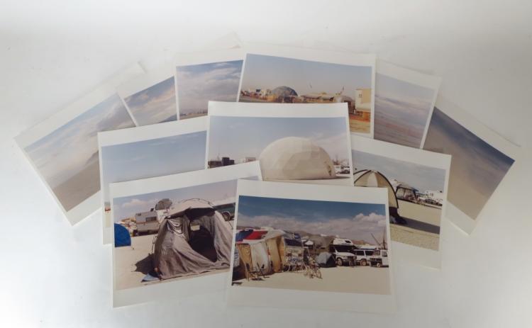 Lot of 11 Burning Man Photographs 20th C.