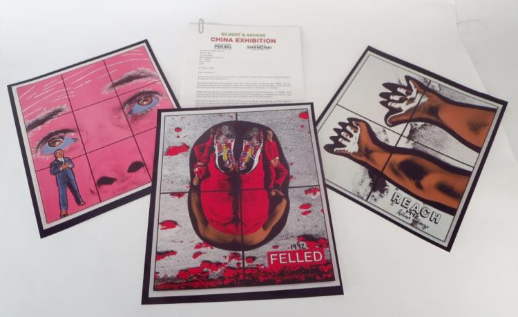 Gilbert & George Press Release w/ 3 Photographs