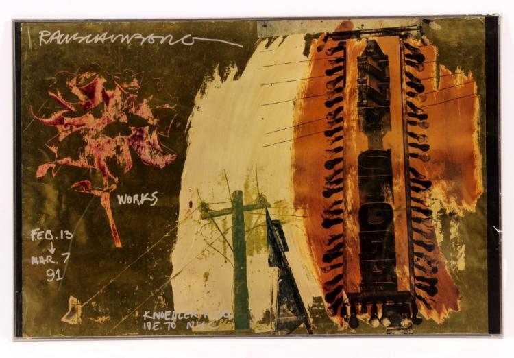 Robert Raushenberg Poster Knoedler & Co. 1991