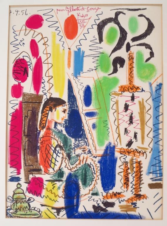 Pablo Picasso, In Picasso's Studio,1957,lithograph