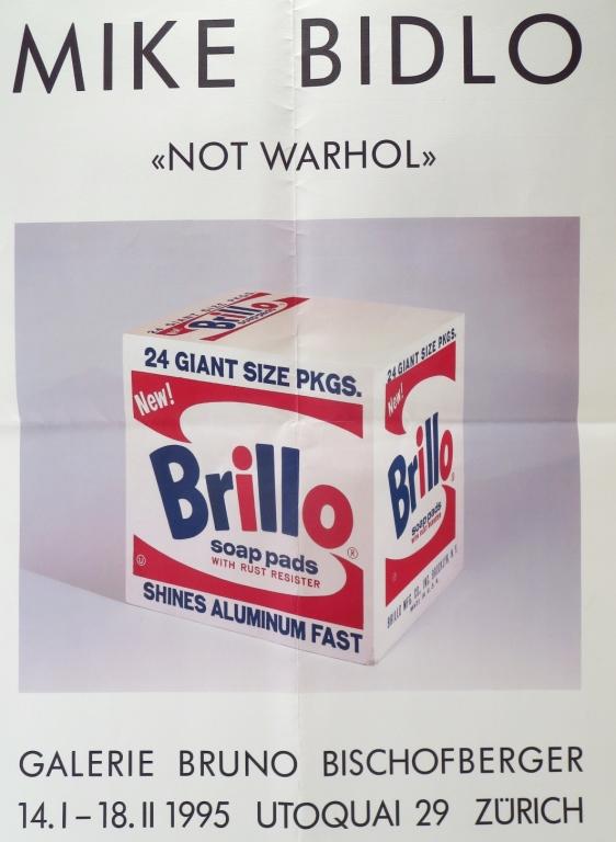 Mike Bidlo Not Warhol Brillo Poster Zurich 1995