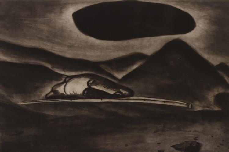 Enzo Cucchi,It.,Un-Immagine Oscura,litho