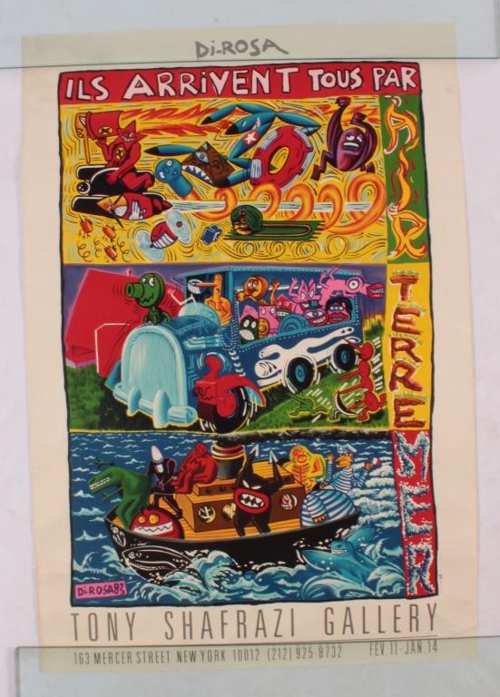 Herve DiRosa Poster Tony Shafrazi Gallery 1983