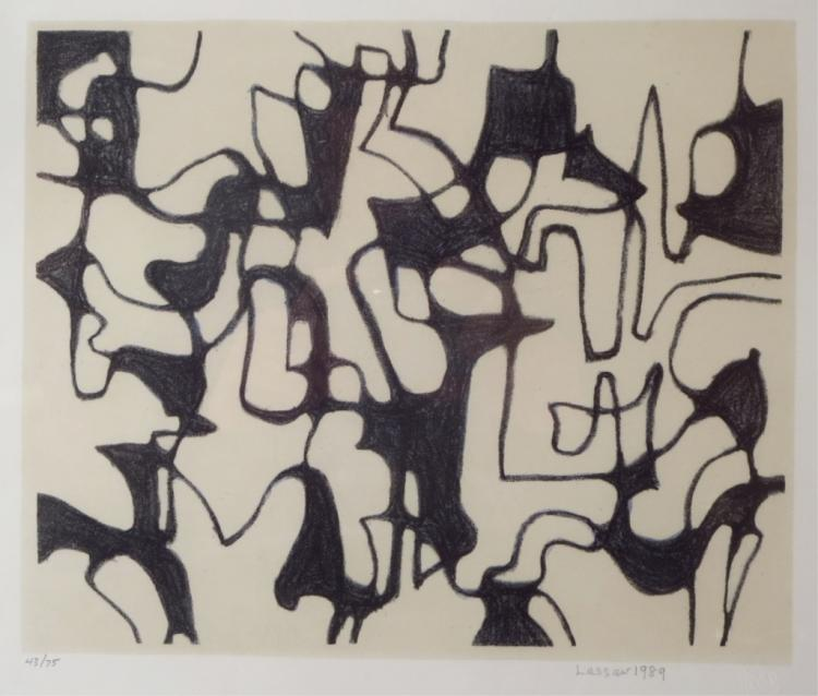 Ibram Lassaw, 1913-2003, Amorphous Shapes Litho