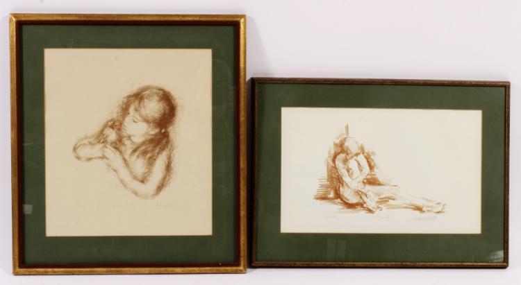 2 Modern Prints, Lila Copeland & Nude