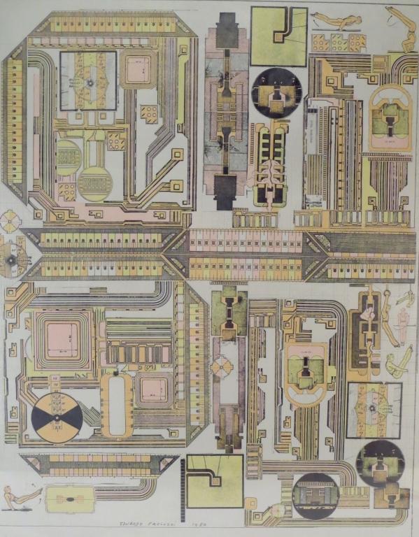 Eduardo Paolozzi Architectual Print 1980