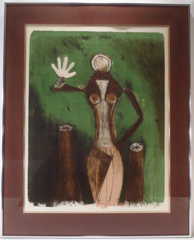 Rufino Tamayo Torso de Femme Lithograph 1969