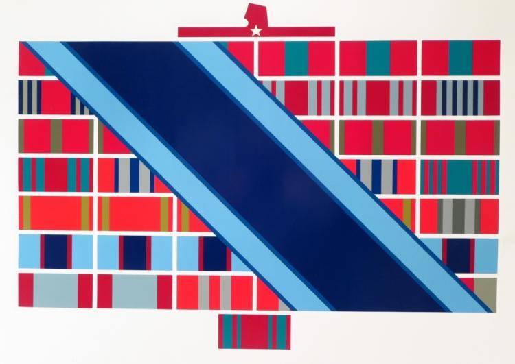 Boris Orlov (b1941) Military Ribbon Serigraph 1989