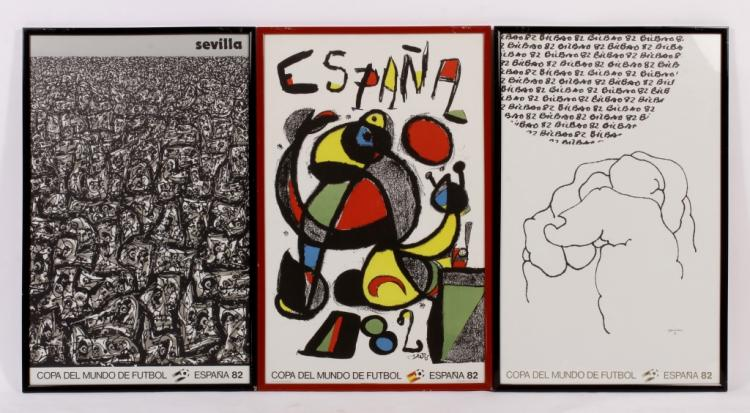 Miro and Others: 3 1982 FIFA Copa Futbol Posters