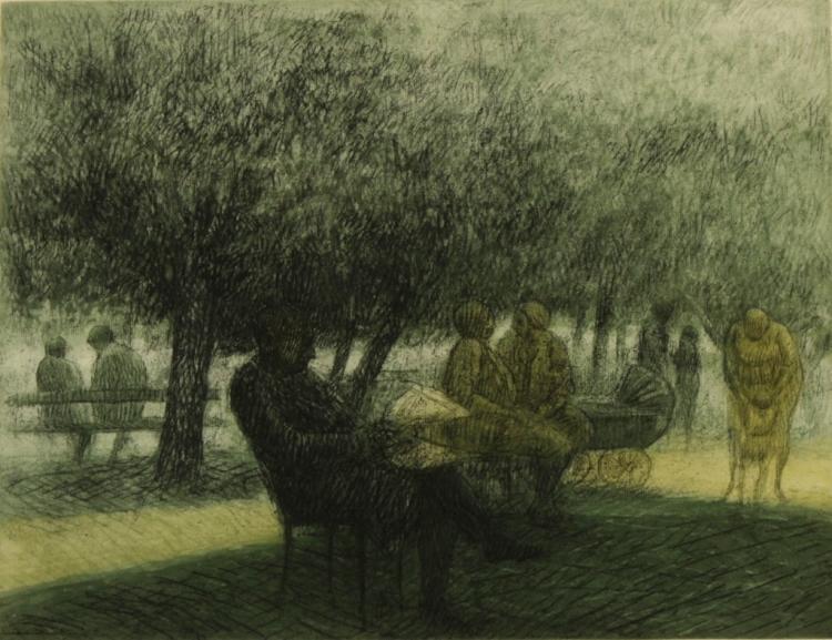 Harold Altman, 1924-2003, Reading Man, 1965