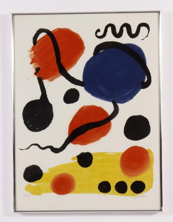 Alexander Calder, Untitled (Circles), Color Lithog