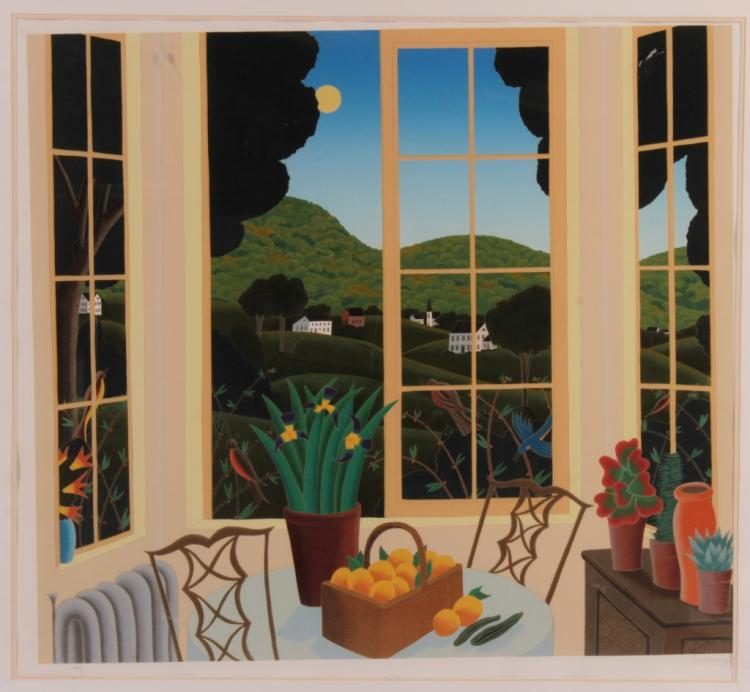 T. McKnight, House in the Hills, Print, Signed.