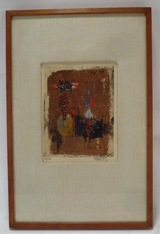 Johnny Friedlaender, Ger., 1912-1992, Etching
