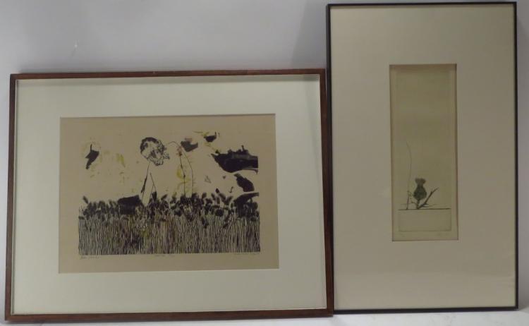 Leonard Baskin, Am., 1922-2000, Two Prints